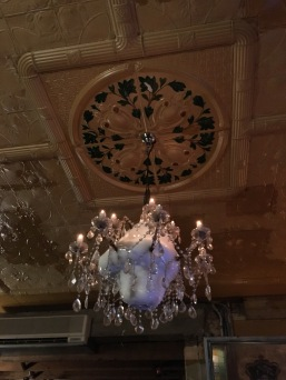 one of two ice-chandeliers in australia. it drips. the same pipe that cools the kegs runs through this chandelier.