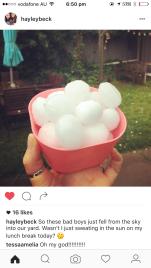 hail or fancy ice spheres?