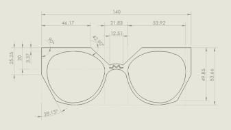 Tennyson Sunglasses - Kelly Carpenter Tech Drawing